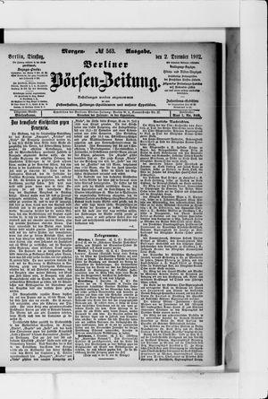 Berliner Börsen-Zeitung vom 02.12.1902