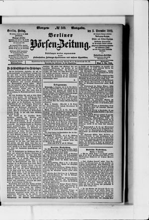 Berliner Börsen-Zeitung vom 05.12.1902