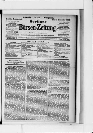 Berliner Börsen-Zeitung vom 06.12.1902