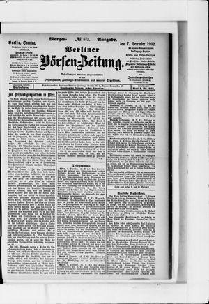 Berliner Börsen-Zeitung vom 07.12.1902