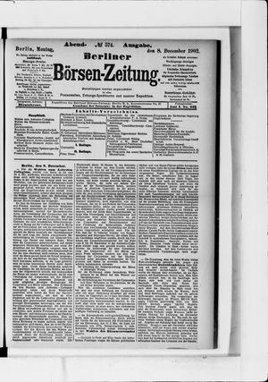 Berliner Börsen-Zeitung vom 08.12.1902