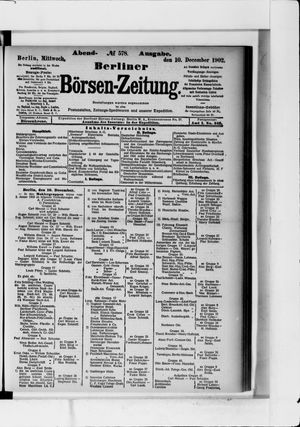 Berliner Börsen-Zeitung vom 10.12.1902