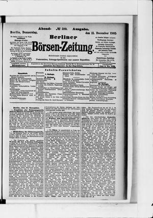 Berliner Börsen-Zeitung vom 11.12.1902
