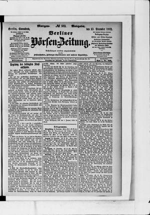 Berliner Börsen-Zeitung vom 13.12.1902