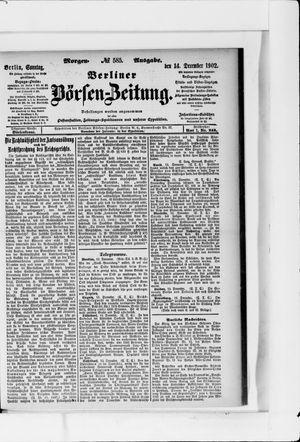 Berliner Börsen-Zeitung vom 14.12.1902