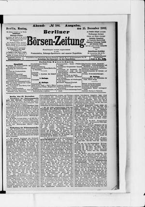 Berliner Börsen-Zeitung vom 15.12.1902