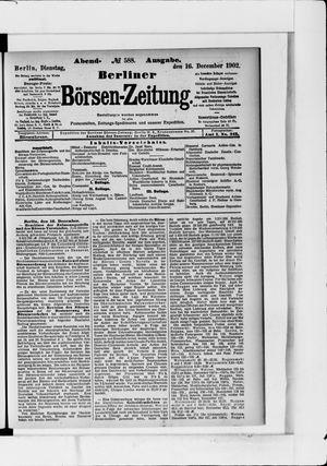 Berliner Börsen-Zeitung vom 16.12.1902