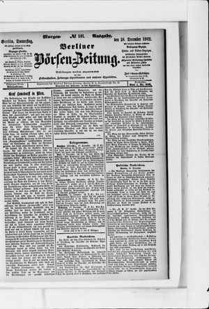 Berliner Börsen-Zeitung vom 18.12.1902