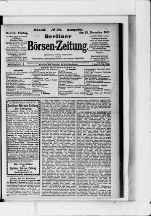 Berliner Börsen-Zeitung vom 19.12.1902