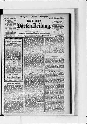 Berliner Börsen-Zeitung vom 20.12.1902