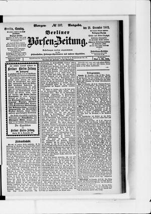 Berliner Börsen-Zeitung vom 21.12.1902