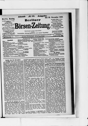 Berliner Börsen-Zeitung vom 22.12.1902