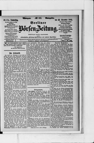 Berliner Börsen-Zeitung vom 25.12.1902