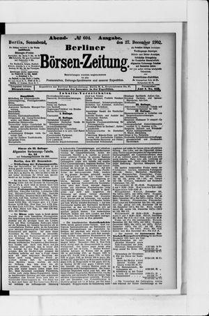 Berliner Börsen-Zeitung vom 27.12.1902