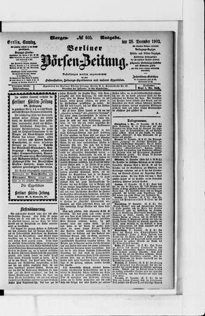 Berliner Börsen-Zeitung vom 28.12.1902