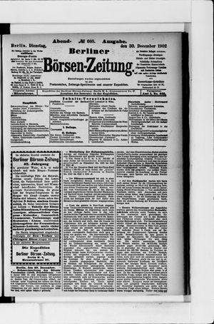 Berliner Börsen-Zeitung vom 30.12.1902