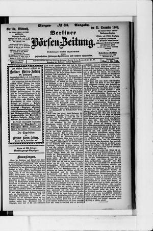 Berliner Börsen-Zeitung vom 31.12.1902