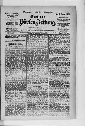 Berliner Börsen-Zeitung vom 01.01.1903