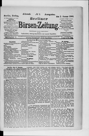 Berliner Börsen-Zeitung vom 02.01.1903