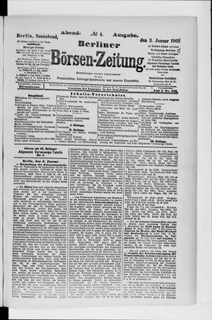 Berliner Börsen-Zeitung on Jan 3, 1903