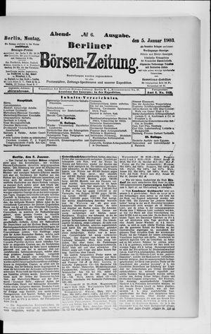Berliner Börsen-Zeitung vom 05.01.1903