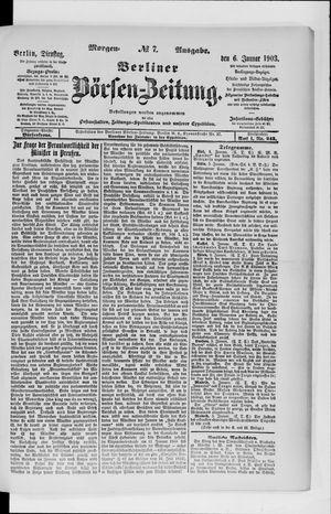 Berliner Börsen-Zeitung vom 06.01.1903