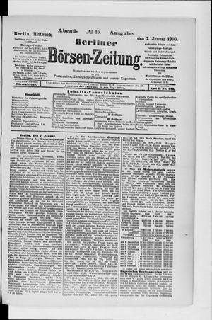 Berliner Börsen-Zeitung vom 07.01.1903