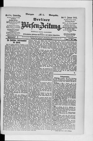 Berliner Börsen-Zeitung vom 08.01.1903