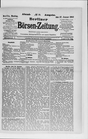 Berliner Börsen-Zeitung vom 12.01.1903