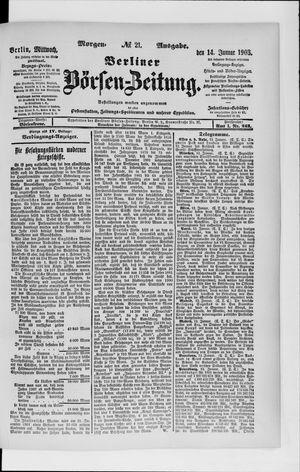 Berliner Börsen-Zeitung vom 14.01.1903
