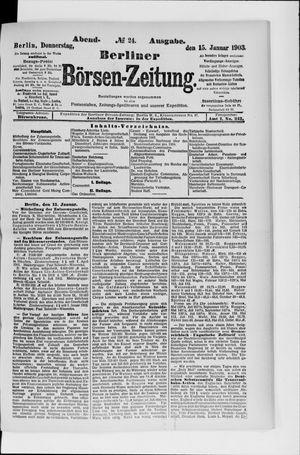 Berliner Börsen-Zeitung vom 15.01.1903