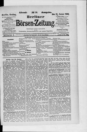 Berliner Börsen-Zeitung vom 16.01.1903