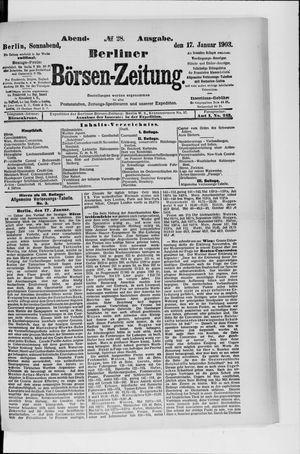 Berliner Börsen-Zeitung vom 17.01.1903
