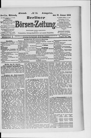 Berliner Börsen-Zeitung vom 21.01.1903