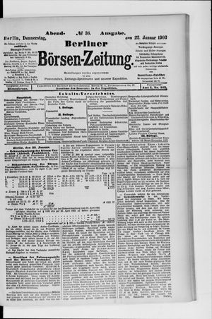 Berliner Börsen-Zeitung vom 22.01.1903