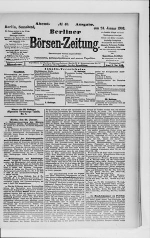 Berliner Börsen-Zeitung vom 24.01.1903