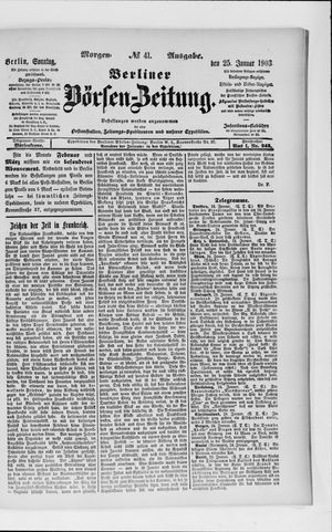 Berliner Börsen-Zeitung vom 25.01.1903