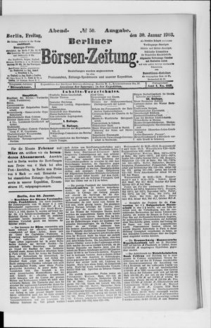 Berliner Börsen-Zeitung vom 30.01.1903