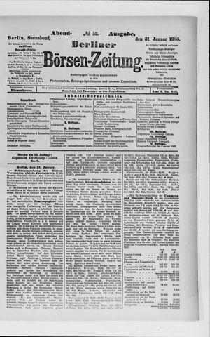 Berliner Börsen-Zeitung vom 31.01.1903