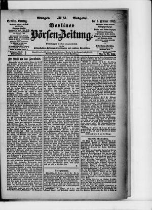 Berliner Börsen-Zeitung vom 01.02.1903