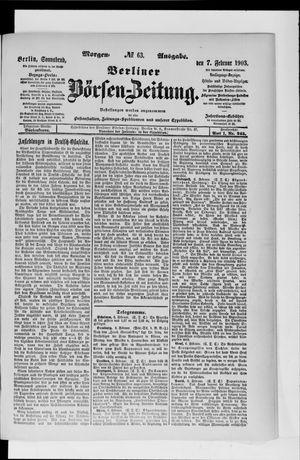 Berliner Börsen-Zeitung vom 07.02.1903