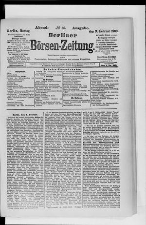 Berliner Börsen-Zeitung vom 09.02.1903