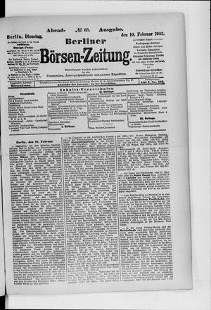 Berliner Börsen-Zeitung on Feb 10, 1903