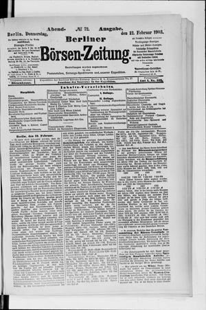 Berliner Börsen-Zeitung on Feb 12, 1903