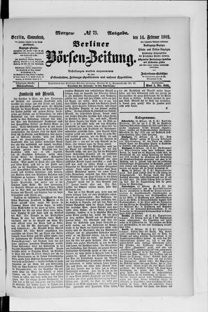 Berliner Börsen-Zeitung vom 14.02.1903