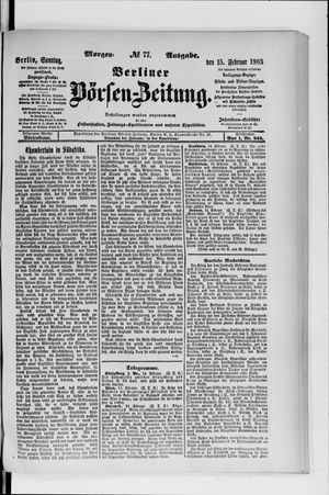 Berliner Börsen-Zeitung vom 15.02.1903