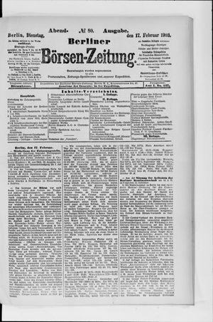 Berliner Börsen-Zeitung vom 17.02.1903