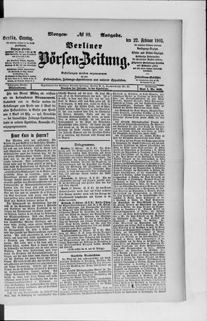 Berliner Börsen-Zeitung vom 22.02.1903