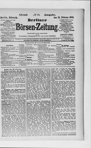 Berliner Börsen-Zeitung vom 25.02.1903