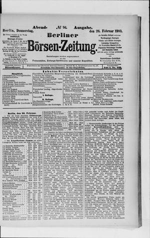 Berliner Börsen-Zeitung vom 26.02.1903